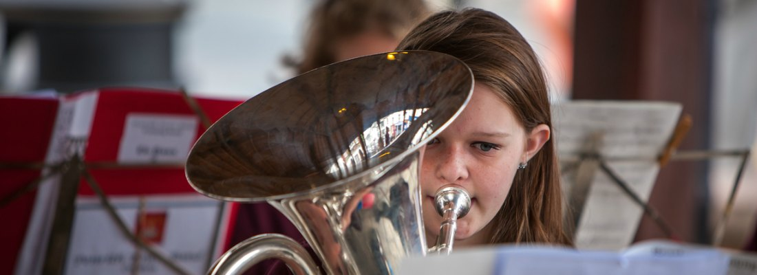 Penrith Town Band Melissa on euphonium