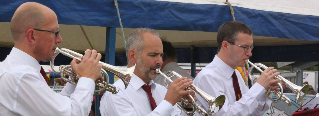 Penrith Town Band front row cornets Buglers' Holiday